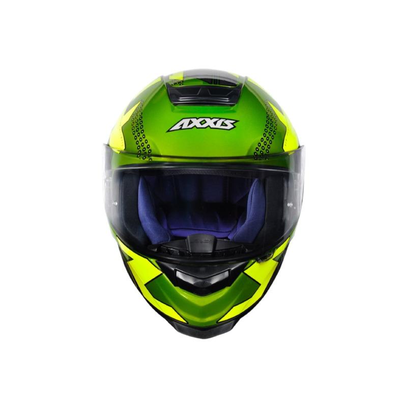 Capacete Axxis Eagle Diagon Cinza e Verde
