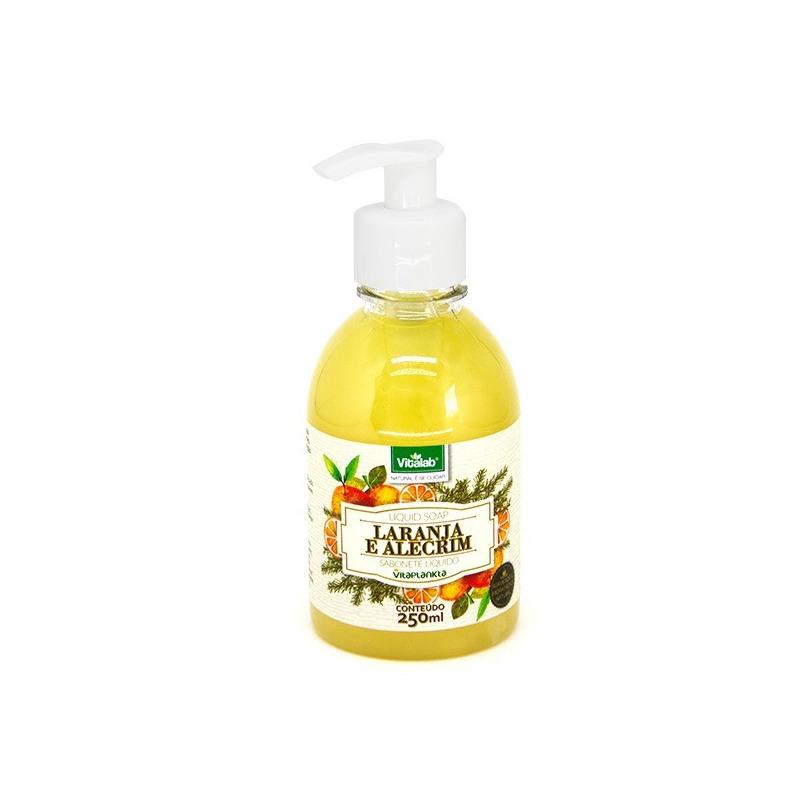 Sabonete Líquido de Laranja e Alecrim - 250ml - Vitalab