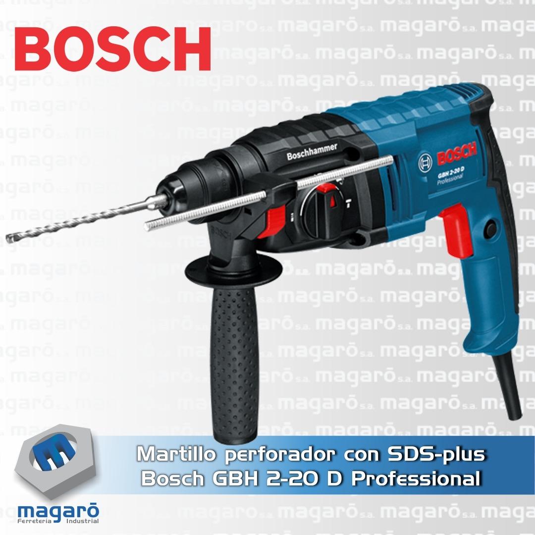 Martillo perforador con SDS-plus Bosch GBH 2-20 D Profess...
