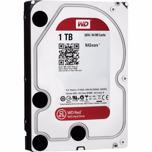 Disco Rigido Western Digital 1tb Red Nas Sata 3 64mb Raid