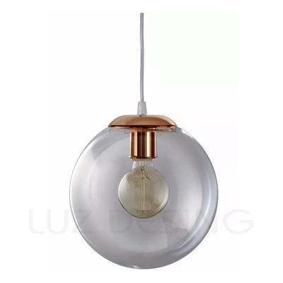 Colgante Globo 25cm Transparente Cobre Vintage Apto Led