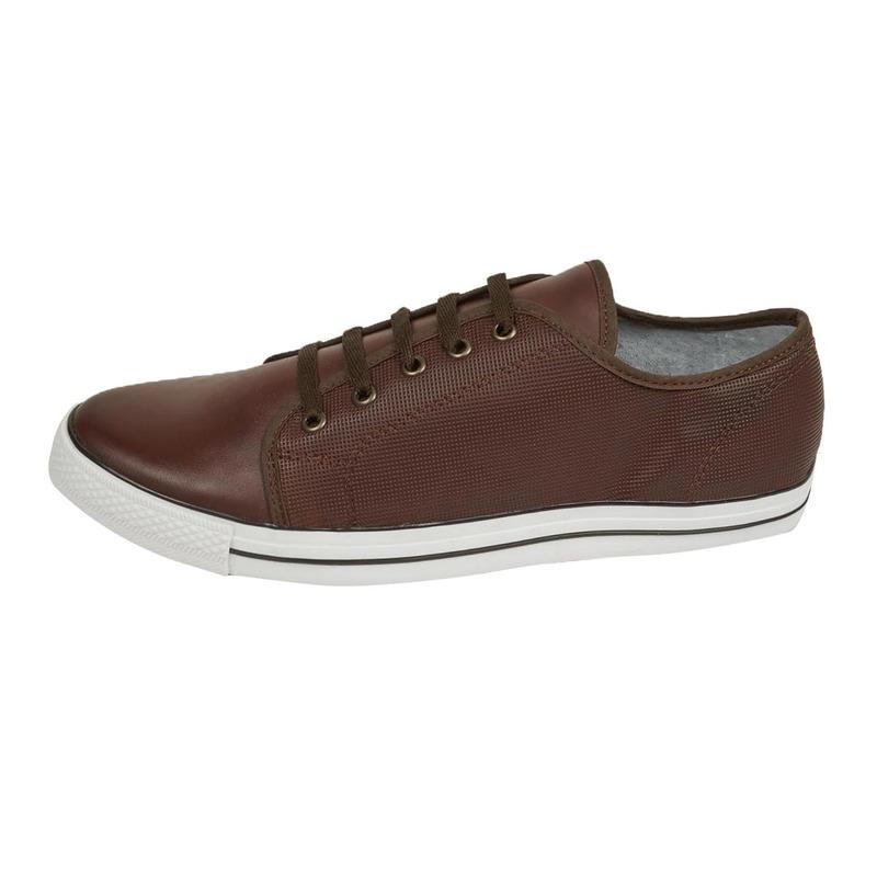Sneakers cafés piel 018569