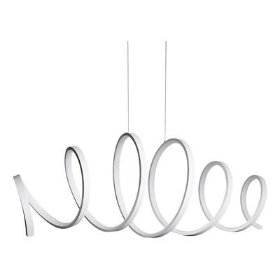 Colgante Led Deco Moderno 45w Espiral Vour Blanco Lk