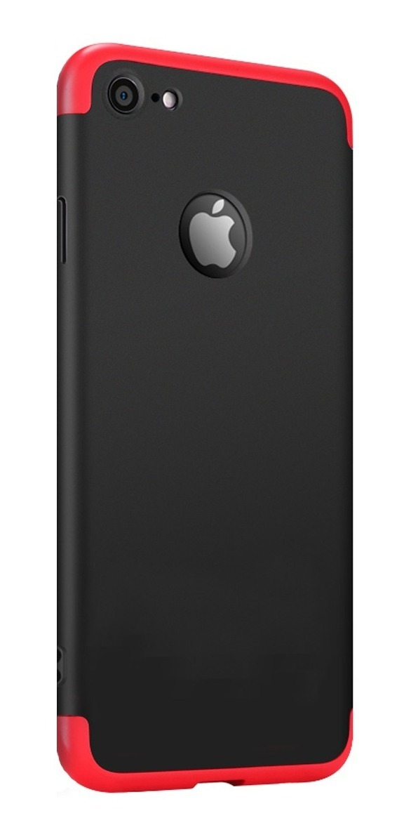 FUNDA 360 LUXURY IPHONE 7/8 PLUS ROJA CON NEGRO (TERRACOTA)