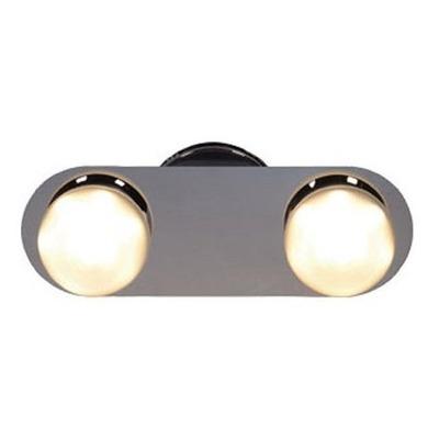 Aplique Led Bola 2 Luces Cromo Deco Moderno Apl4222