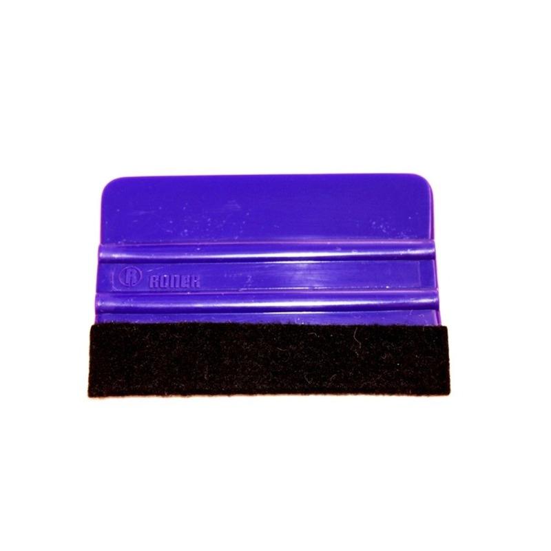Espátula de PVC com ponta em feltro para aplicação de vinil adesivo