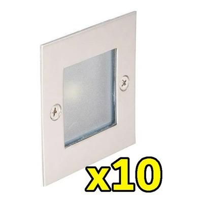 Pack X 10 Spot Emb Aluminio Bronx Pared Led Ideal Escalera