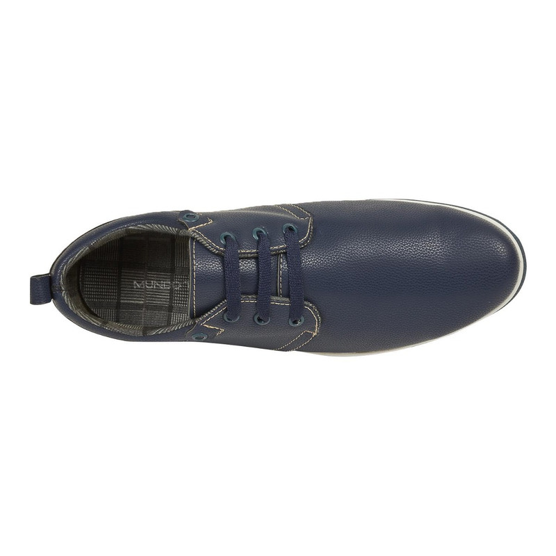 Zapato azul piel 018570