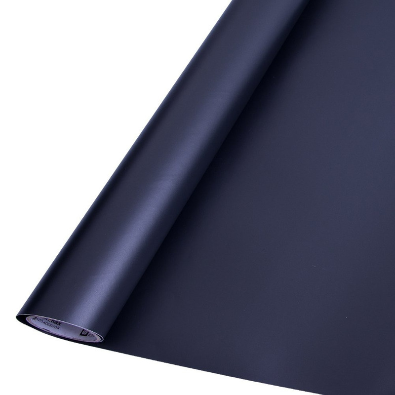 Vinil adesivo colormax preto fosco larg. 1,0 m