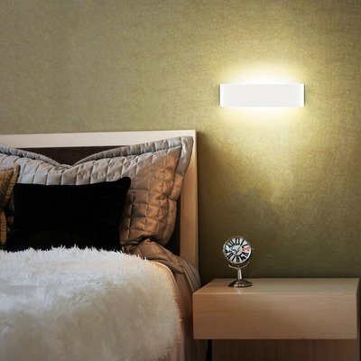 Aplique Pared Maccacari Led Blanco Aluminio Moderno Eglo