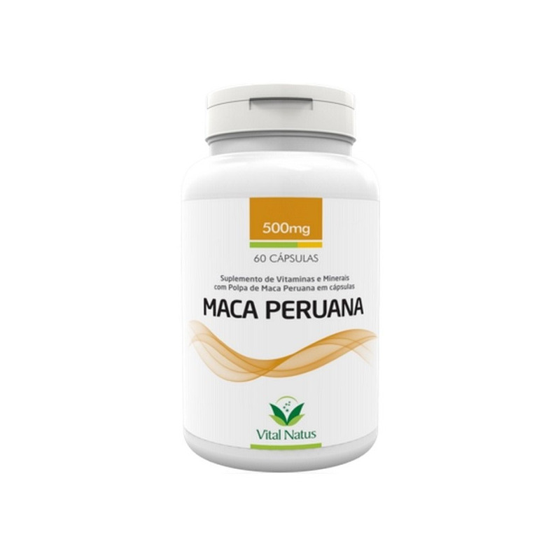 Maca Peruana - 60 capsulas de 500mg - Vital Natus