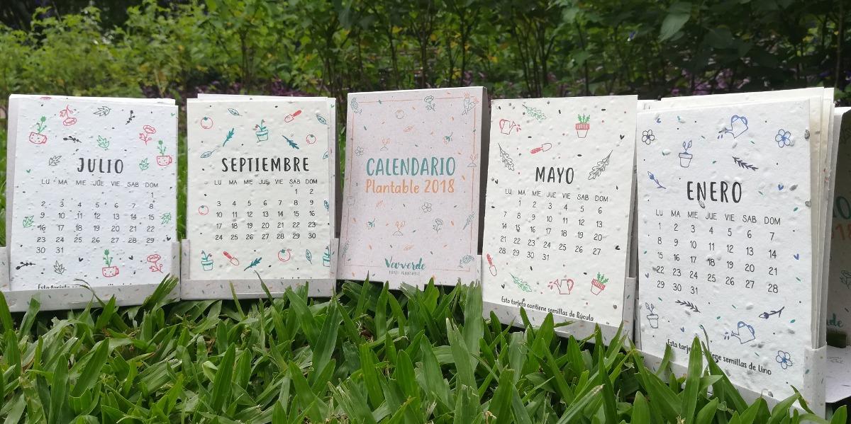 25 Calendarios Personalizados Plantables 2018 + Logo y Da...