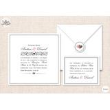 Invitación casamiento TB003
