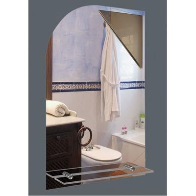 Espejo para ba o s luz medida 40x60 cm con repisa bisel for Espejos para bano con luz y repisa