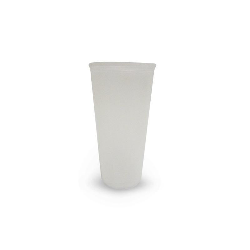 Vaso Transparente Colory Blanco 16 Oz Plastico Modelo:  1489100