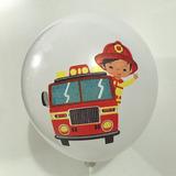 globo bombero blanco desinflado apto helio