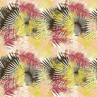 Tecido impermeável Acqua Soleil folhagem palm mostarda