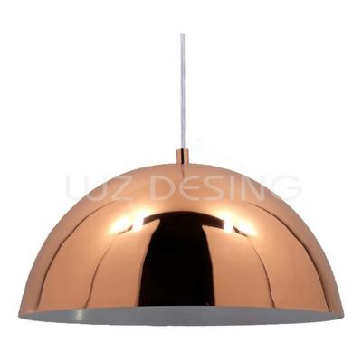 Colgante Campana Cobre 40cm Apto Led Deco Moderno Lmp