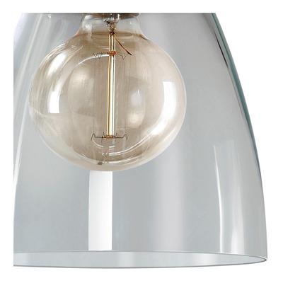 Colgante 2  Luces Vidrio Transparente Deco Vintage Apto Led
