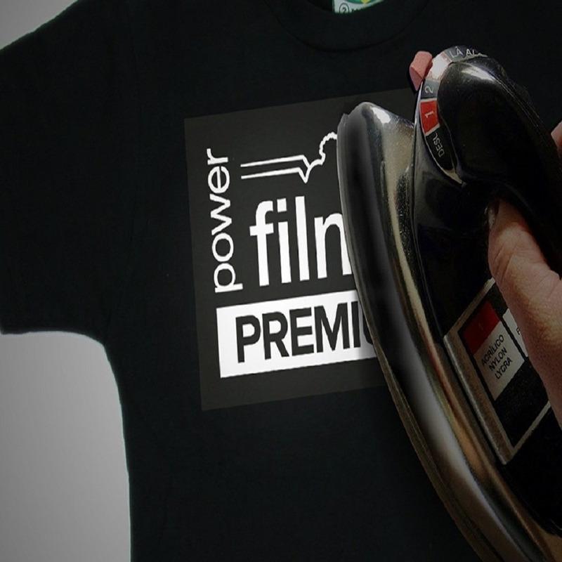 Power film premium preto (folha A4) - pacote com 10 folhas