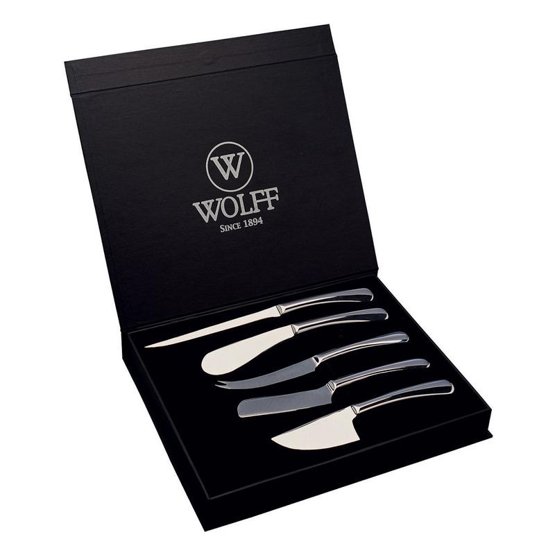 Jogo 5 Facas para Queijo em Inox - Wolff 3109986 3109986