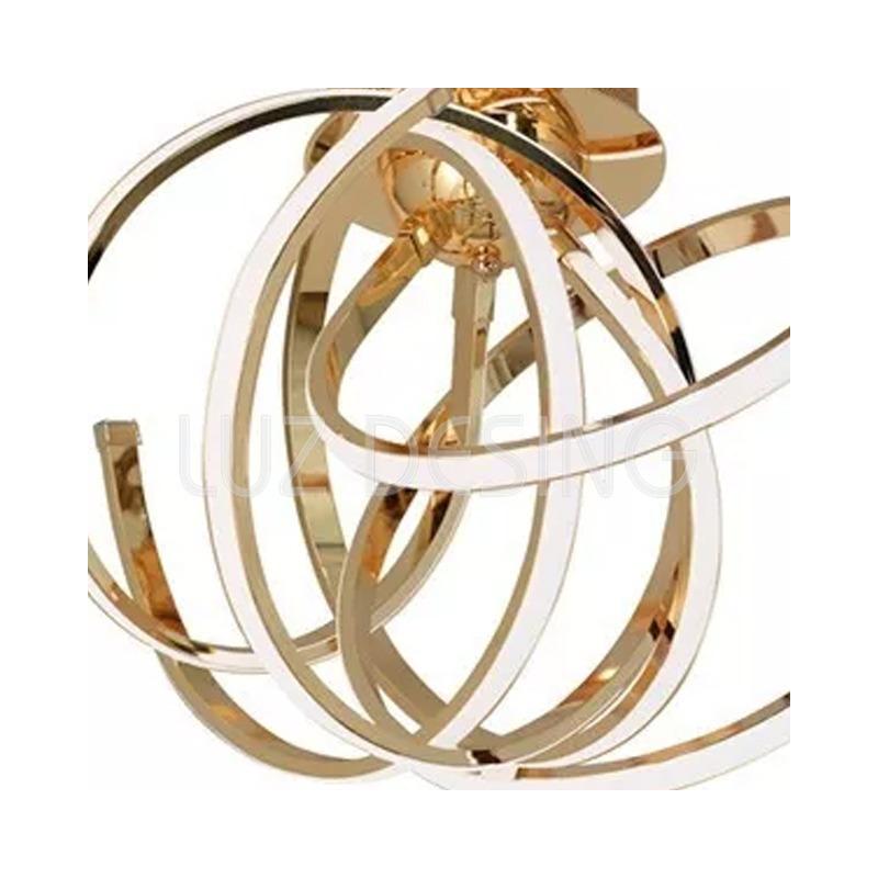 Araña Plafon Luces Led 60w Diseño Moderno Dorado Pal