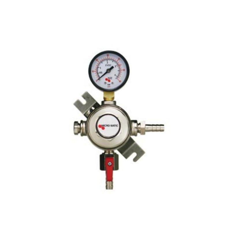 REGULADOR SECUNDARIO DE CO2  PREMIUM MICROMATIC MANOMETRO CERVEZA