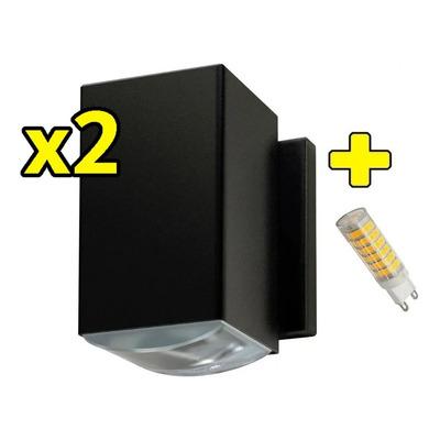 X 2 Difusor Unidireccional Exterior Lente Optico Con Led G9