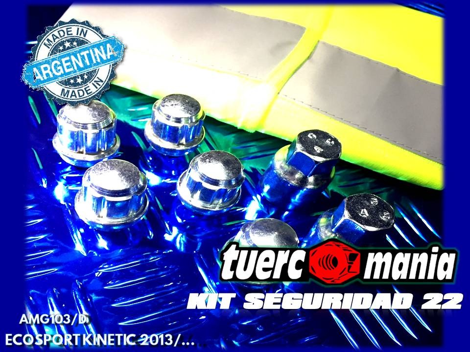 tuerca Antirrobo Ecosport Kinetic 2013/... kit 22