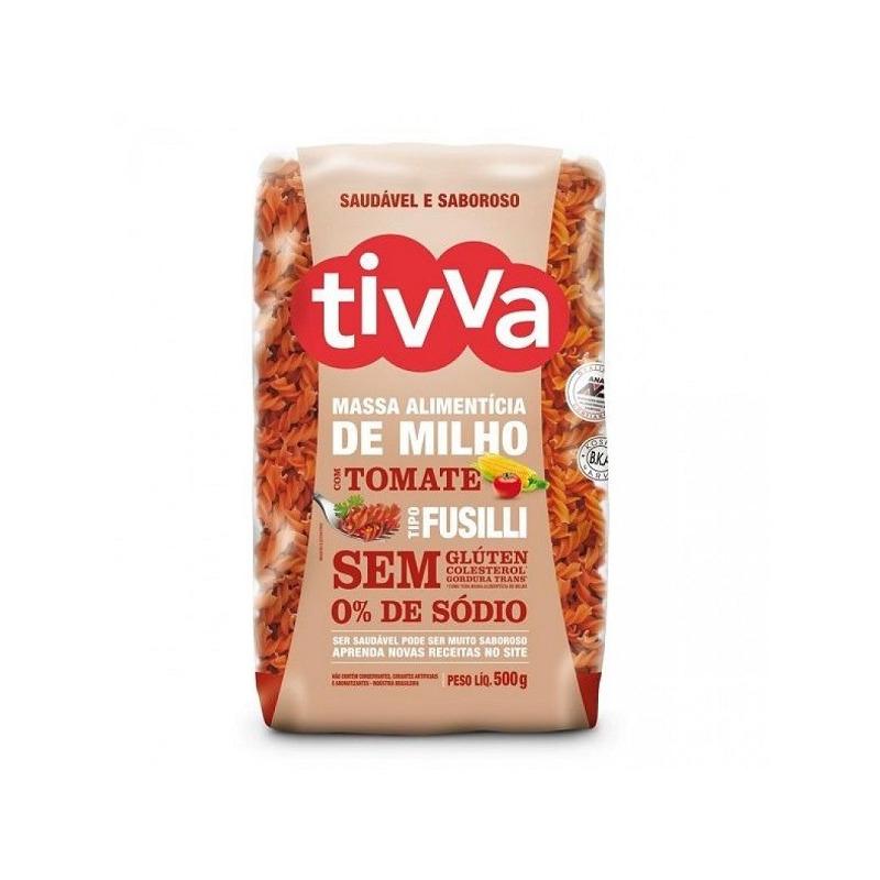 Macarrao Fusilli de Milho com Tomate Sem Gluten - 500g Tivva