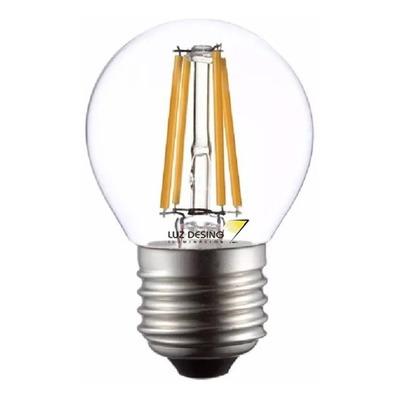 Lampara Gota Filamento Led 4w Calida Vintage E-27 Luz Desing