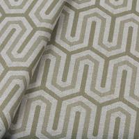 Tecido jacquard para almofada - fendi/branco - Impermeável - Coleção Panamá