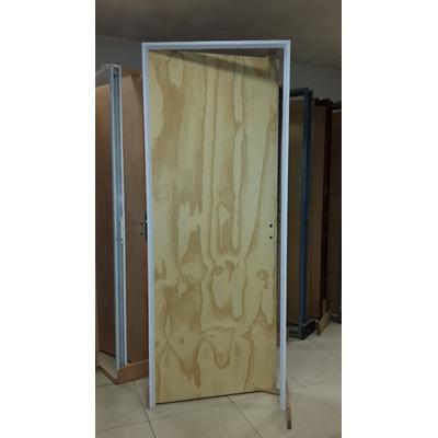Puerta placa pino marco aluminio blanco de 080 x 200 for Aberturas de aluminio blanco precios rosario
