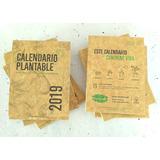 Combo 5 - Calendario Plantable 2019 - Papel Reciclado Con Semillas