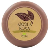 Sabonete Redondo de Argila Roxa - 110g - Dermaclean