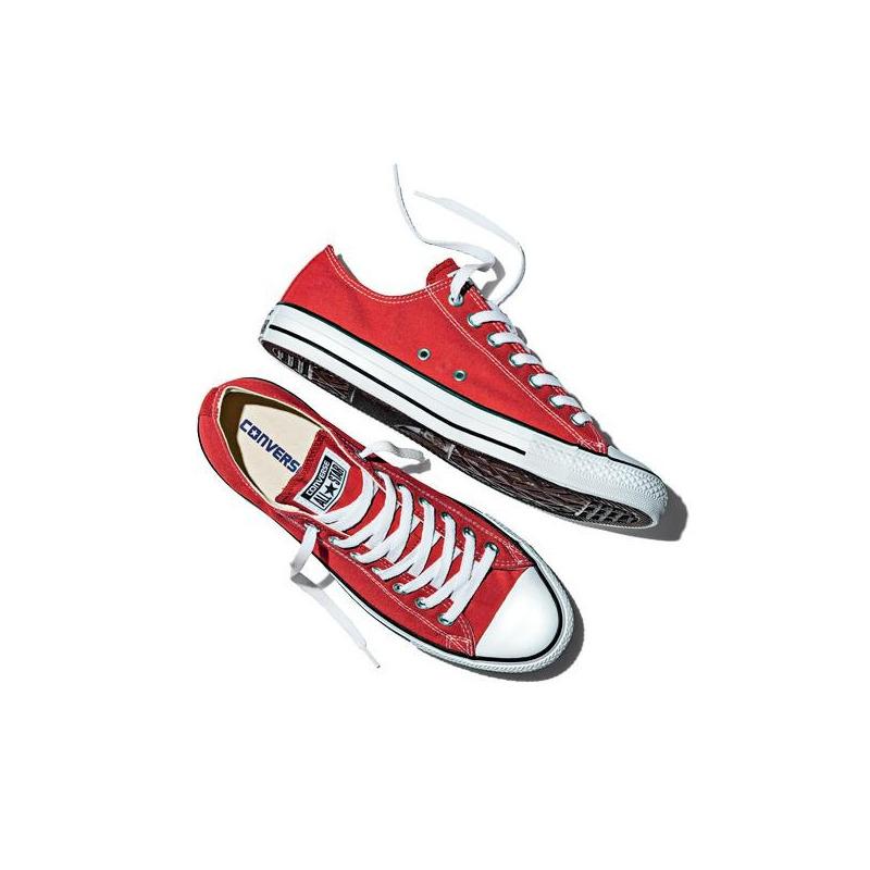 Sneakers Converse rojos agujetas VM9696