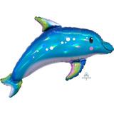 globo delfin 60 cms sin inflar apto helio/aire
