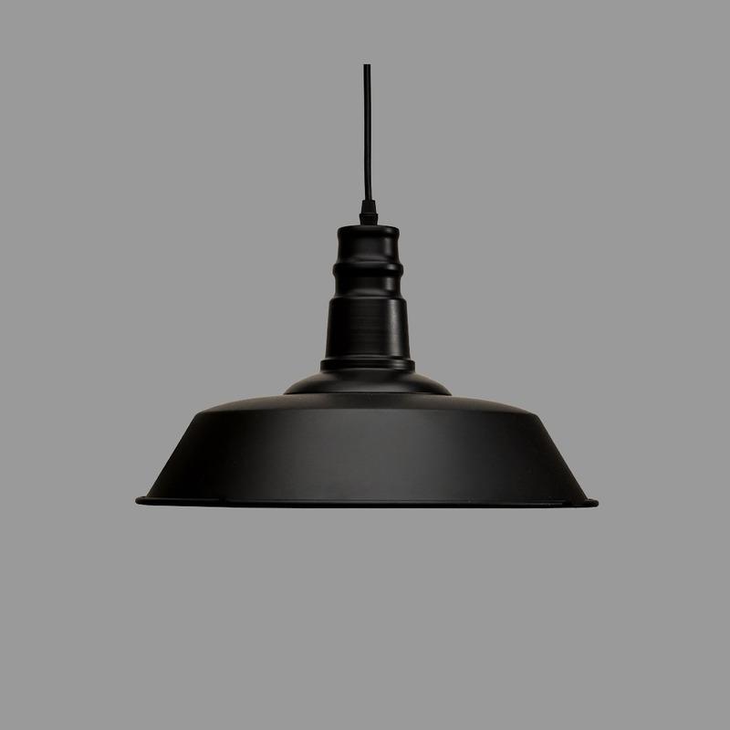 Colgante Vintage Negro Industrial Deco Diseño Moderno Led