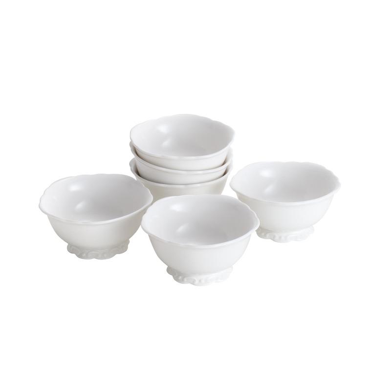 Jogo 6 Tigelas de Porcelana Alto Relevo 14 Cm 31025093