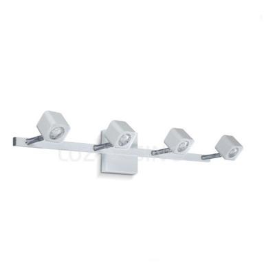 Aplique 4 Luces Cubo Spot Móvil Led Blanco Diseño Pal