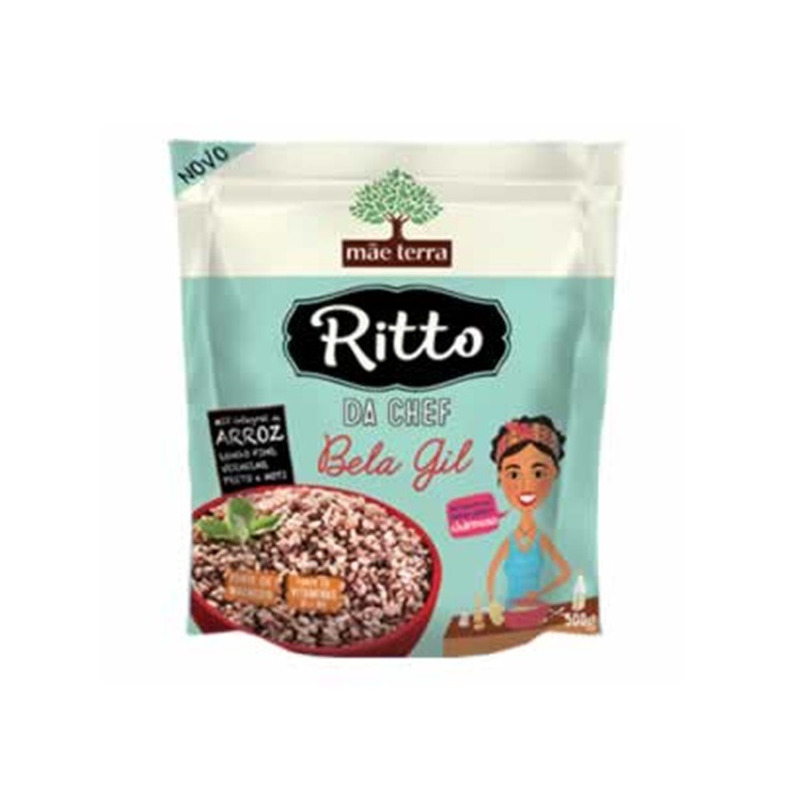 Mix Integral de Arroz Ritto Chef Bela Gil 500g Mae Terra