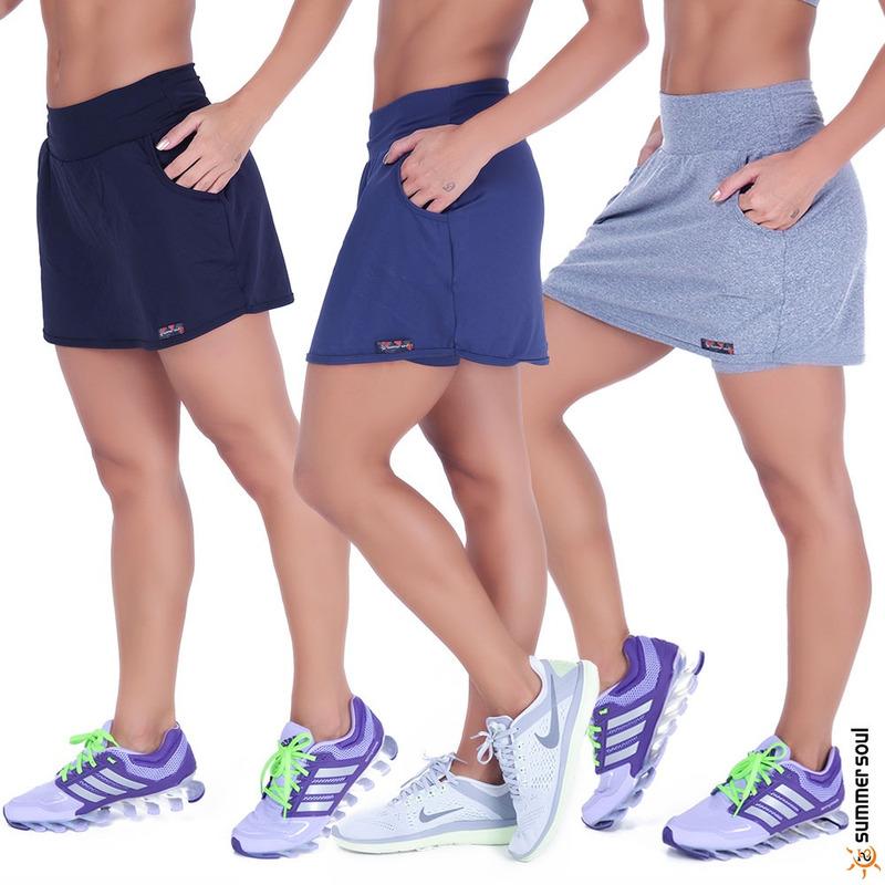 Kit 3 Shorts Saia Fitness Summer Soul