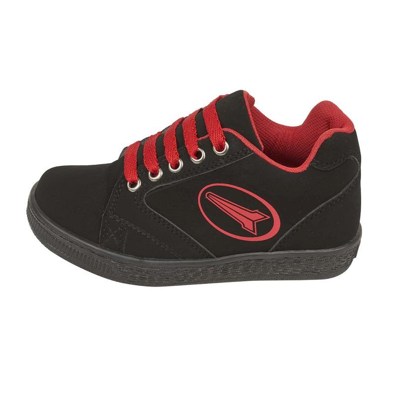 Sneakers negros gamuza 018582