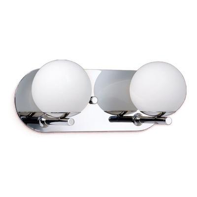 Plafon Aplique Pared Relleu 2 Luces G9 Esferas Living Acero