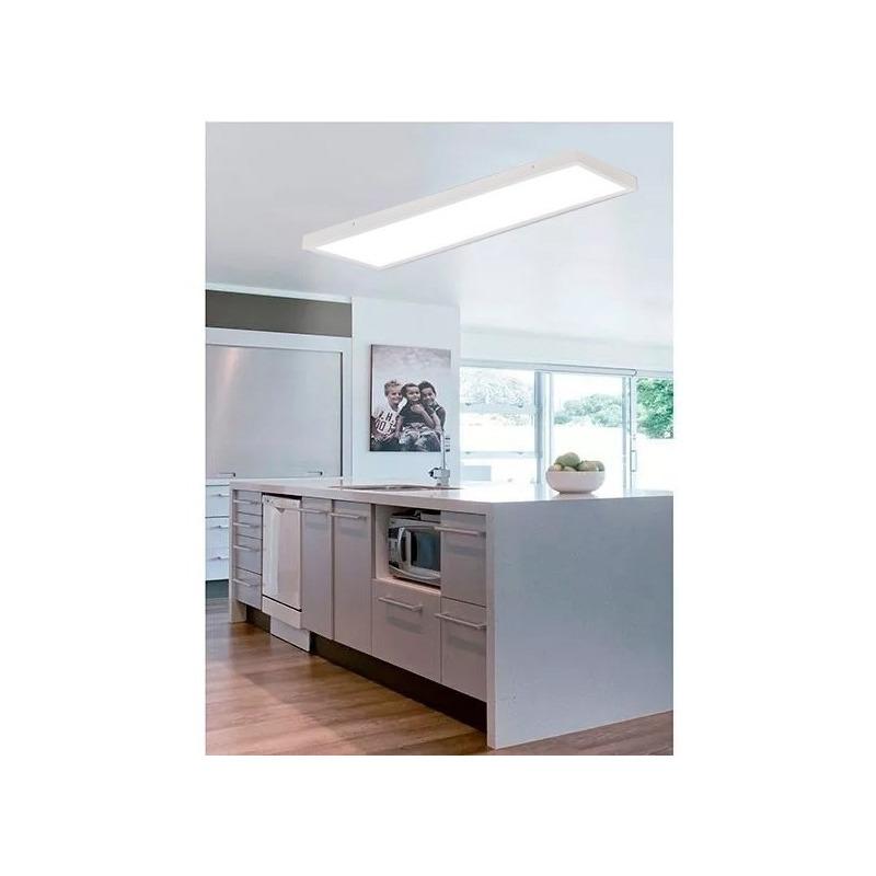 Panel Plafon Led 120x30 48w Alta Potencia Rectangular