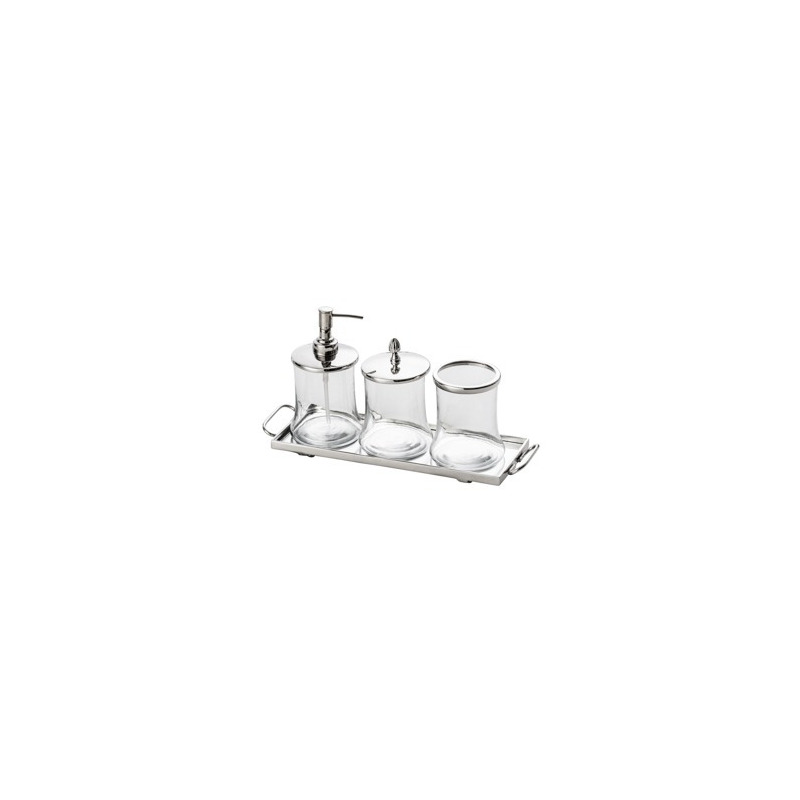 Jogo 4 Pecas de Banheiro com Porta Escova Porta Algo 4102084