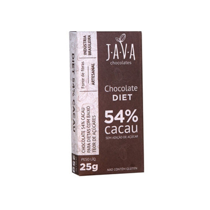 Chocolate Diet 54% Cacau - 25g - Java