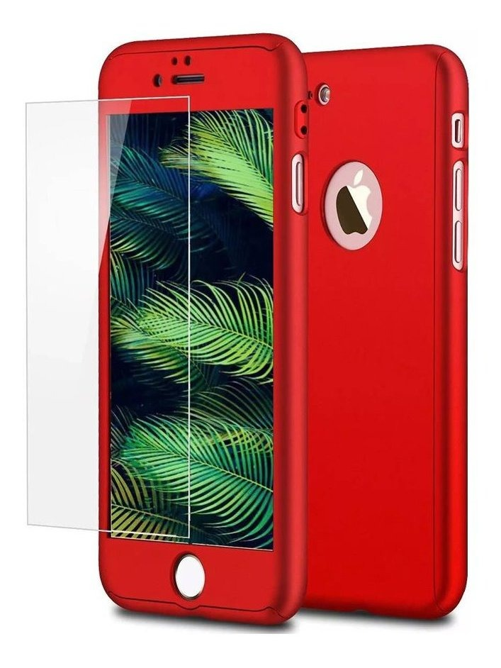 FUNDA 360 IPHONE 8 PLUS ROJA GENERICA