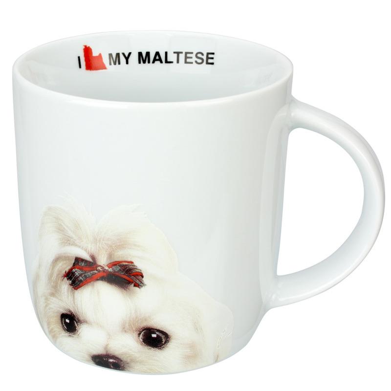 Caneca Porcelana 340ml I Love My Maltese - Dynasty 7518179