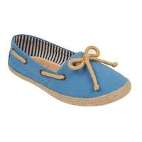 Alpargata azul con moño 018870